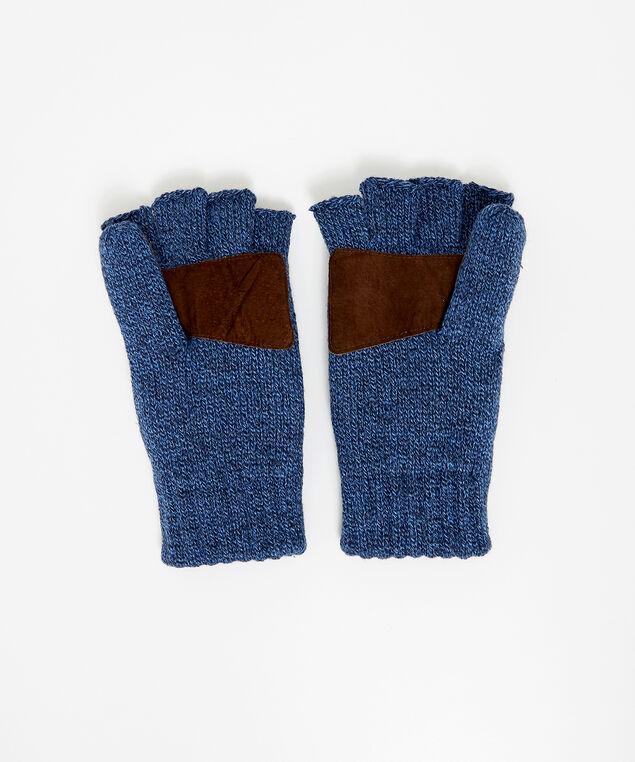flip leather grip mittens, NAVY, hi-res