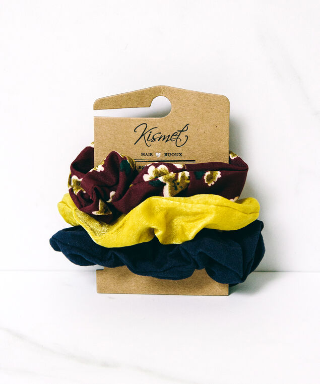 3 pack of hair scrunchies, Assorted, hi-res