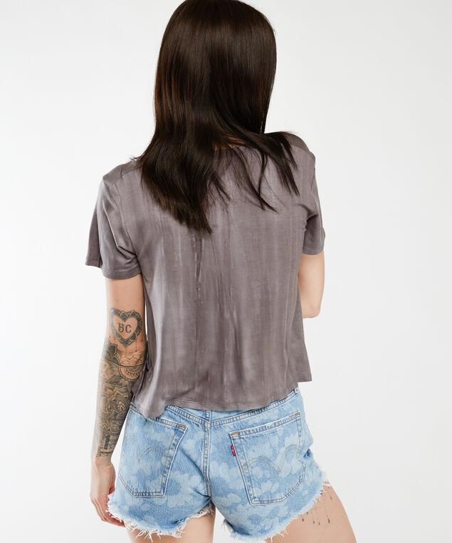 distressed short sleeve tee, Black