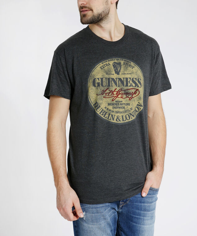 guinness graphic tee, CHARCOAL HEATHER, hi-res