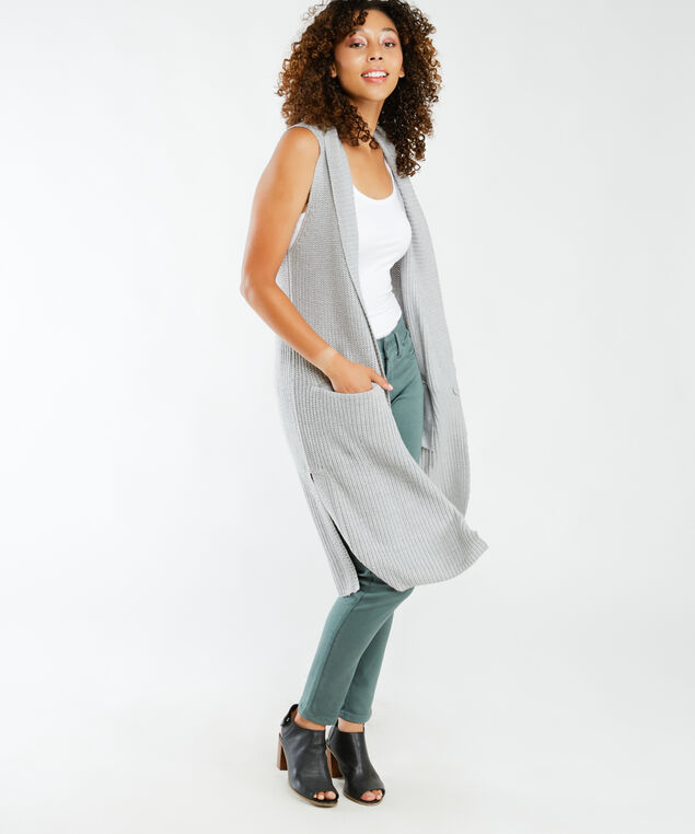 tunic vest, Grey Mel