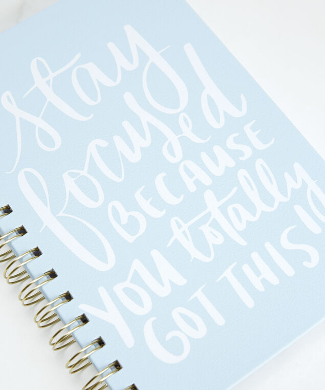stay focused notebook, Blue