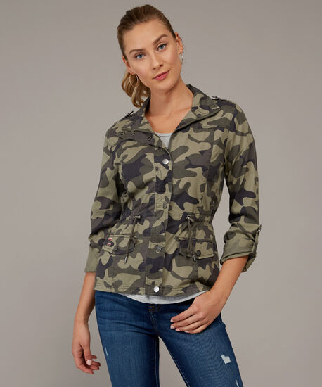 camo anorak with back embroidery - wb, BLACK CAMO, hi-res