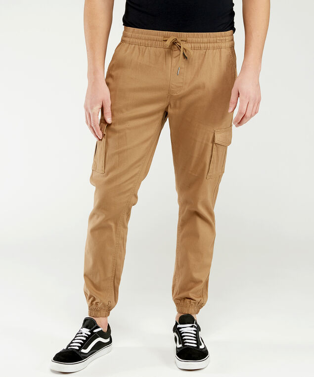 hedge basic jogger, Tan, hi-res