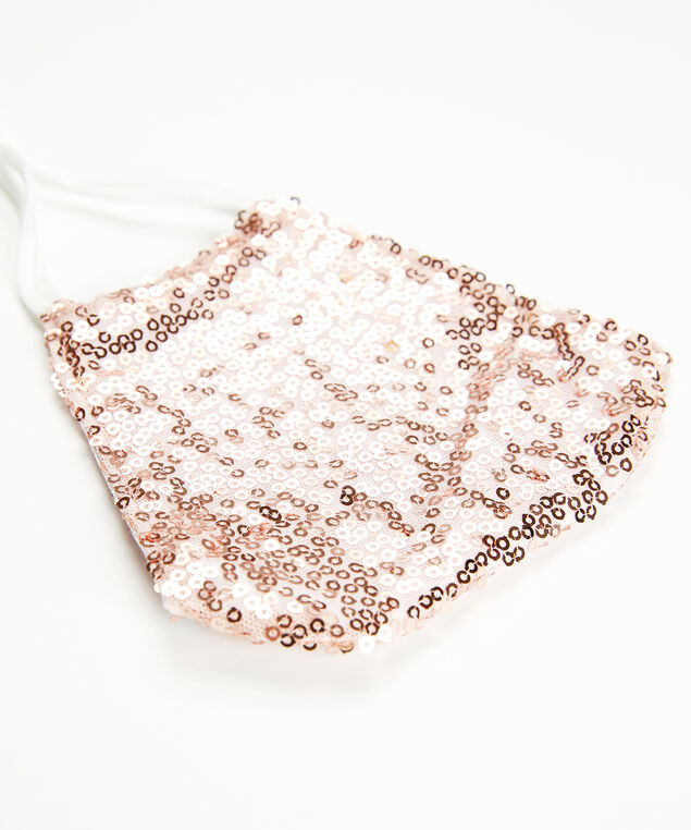 blush sequins facemask, Rose, hi-res
