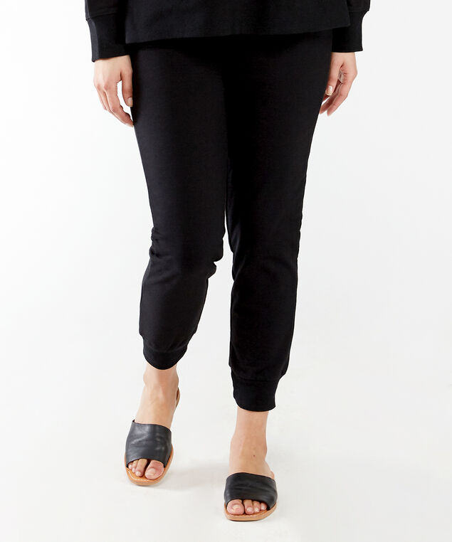french terry jogger, Black