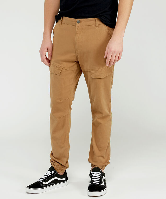 hedge cargo jogger, Tan, hi-res