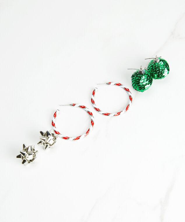 3 pack of christmas earrings, Multi, hi-res