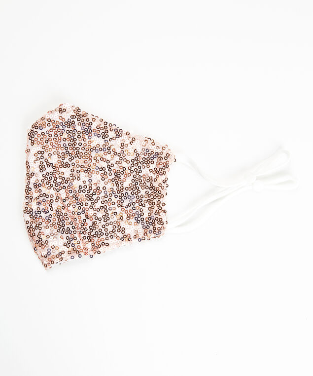 blush sequins facemask, Rose