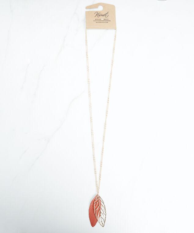 leaf pendant necklace, Gold