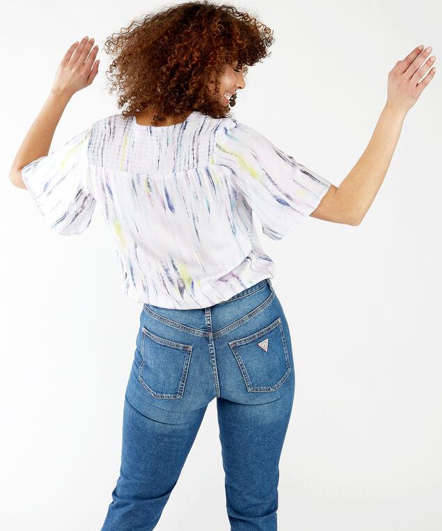 pastel wrap blouse, Watercolor Pastel