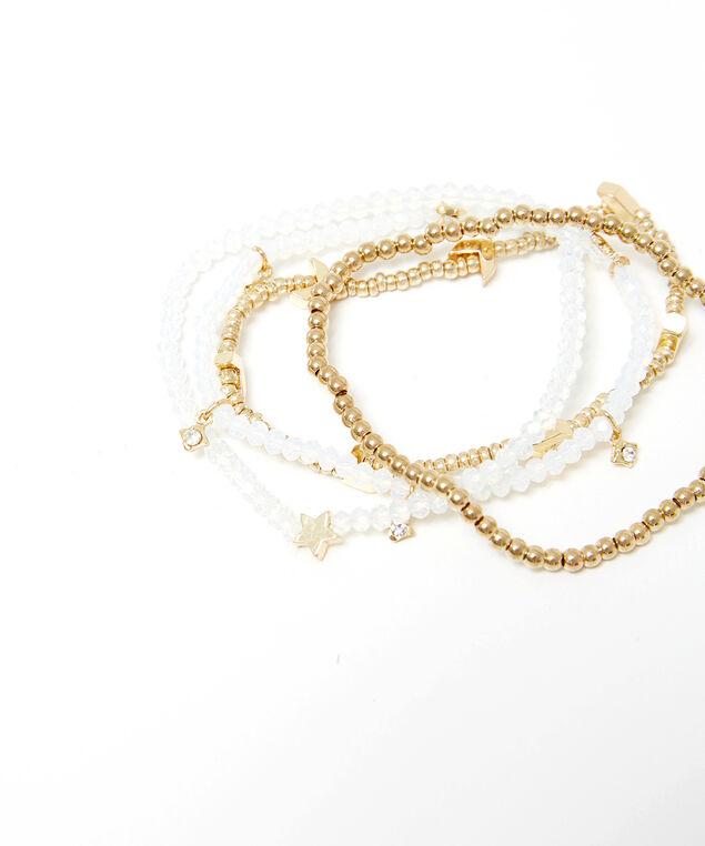 multi layer bead bracelet, Gold, hi-res