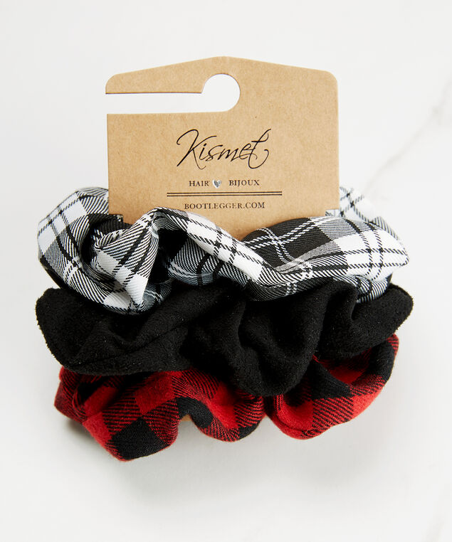 Set of 3 hair scrunchies, Red Pt, hi-res
