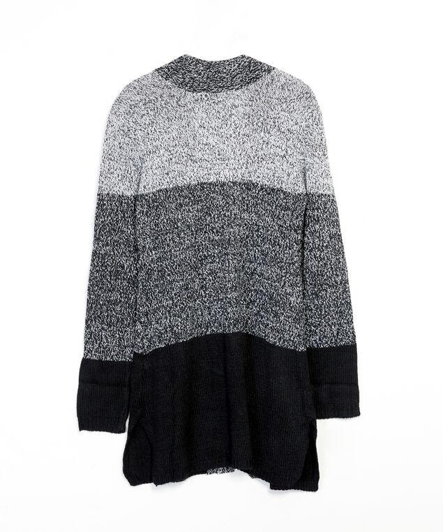 colour block cardigan - wb, Black, hi-res