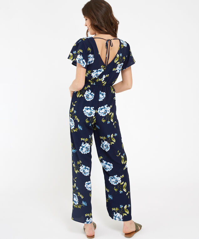 floral crepe jumpsuit - wb, NAVY FLORAL, hi-res