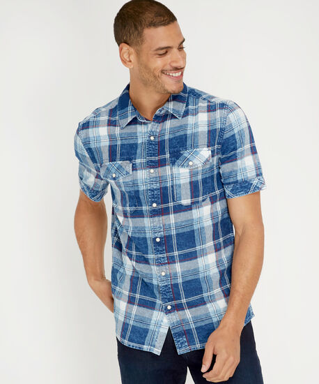 fox s19, BLUE RED PLAID, hi-res
