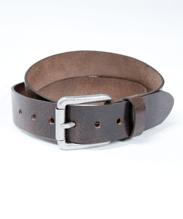 men's leather belt, Brown