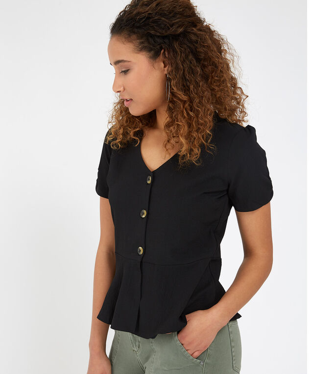 peplum blouse - wb, BLACK, hi-res