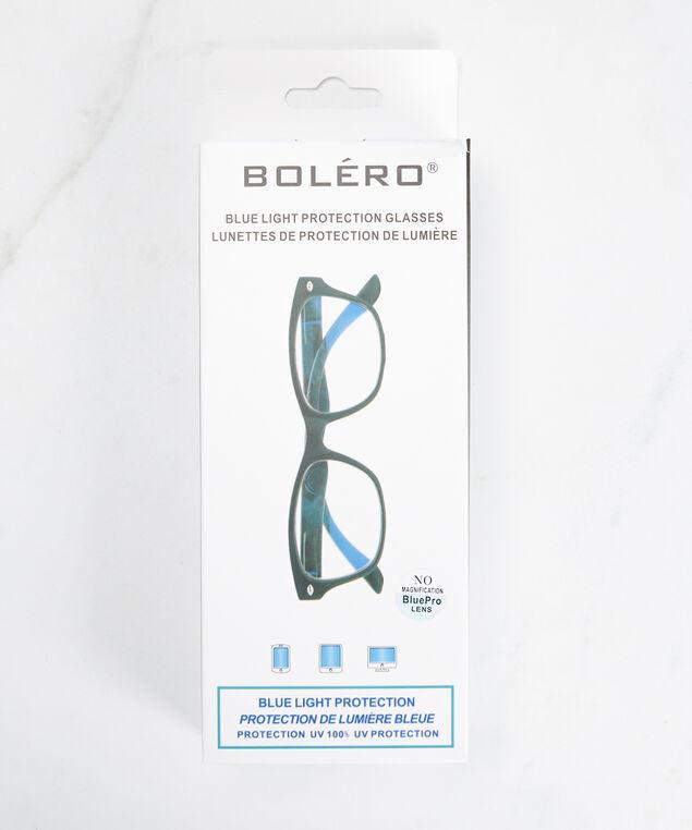 black frame blue light protection glasses, Black