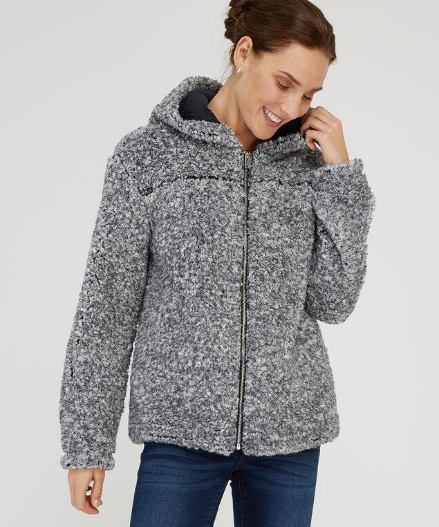 whubby hooded overlayer - wb, GREY BLACK, hi-res