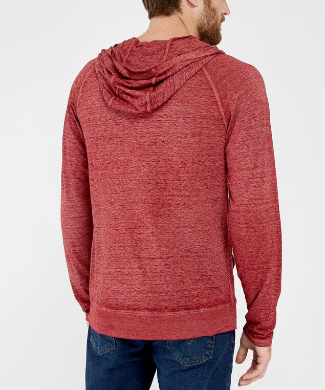 long sleeve hooded tee - wb, RED, hi-res