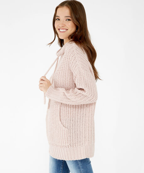 hooded sweater - wb, Pink, hi-res