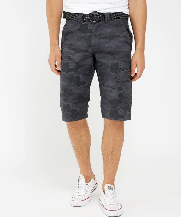 ripstop camo cargo shorts, CHARCOAL, hi-res