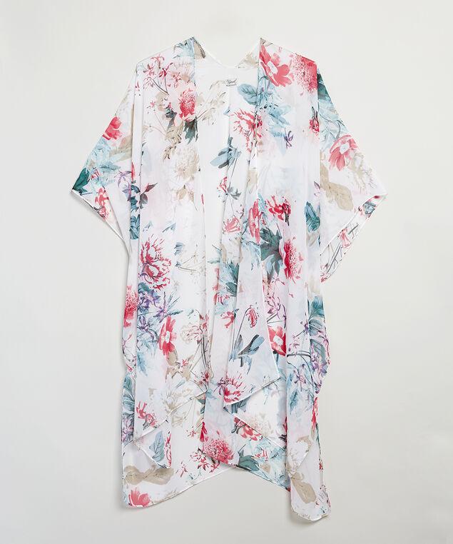 floral kimono, White, hi-res