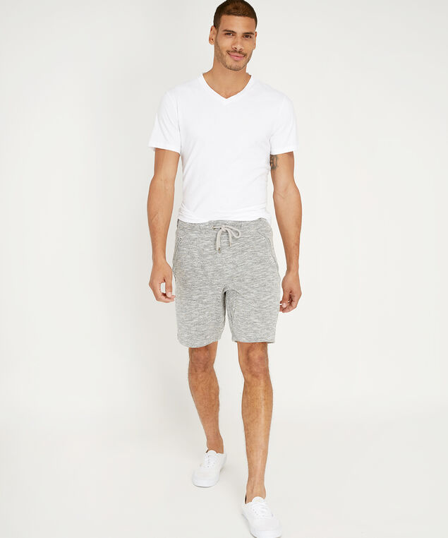 terry drawstring shorts - wb, GREY, hi-res