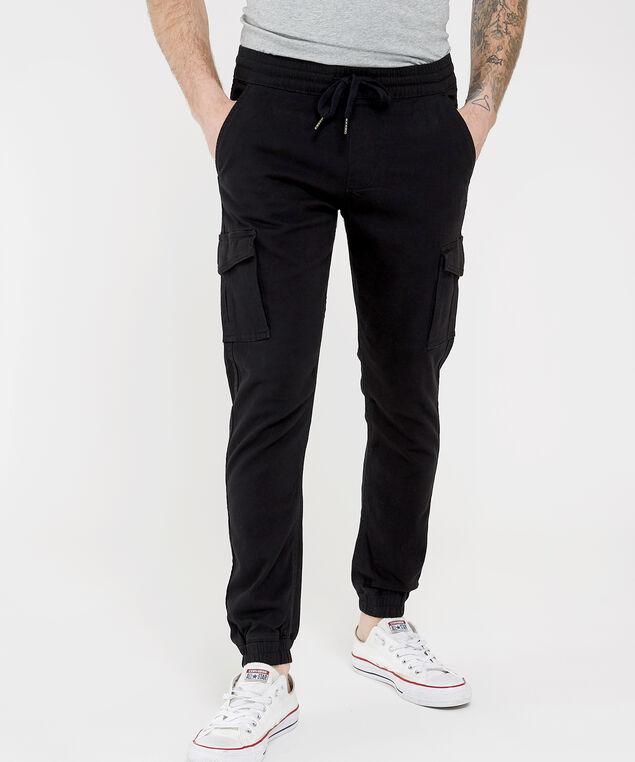 men's cargo jogger, BLACK, hi-res