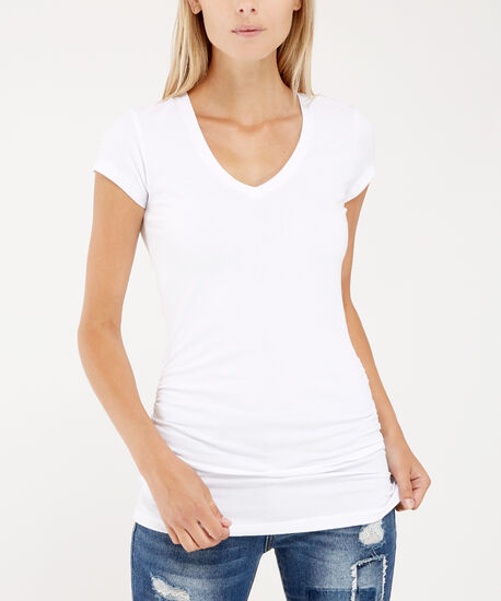 jenny ruched core , WHITE, hi-res