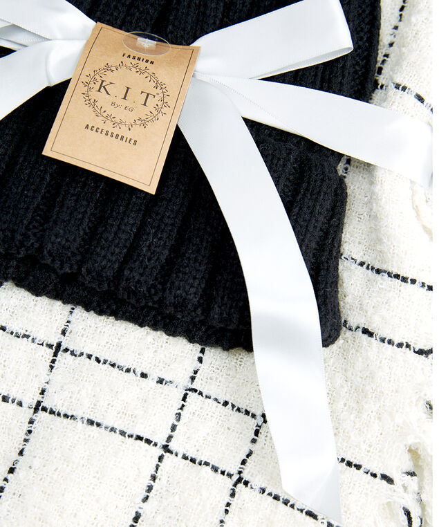 toque and scarf gift set, Ivory, hi-res