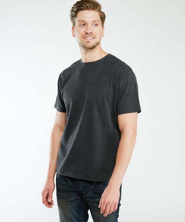 short sleeve ottoman knit tee, Dk Grey
