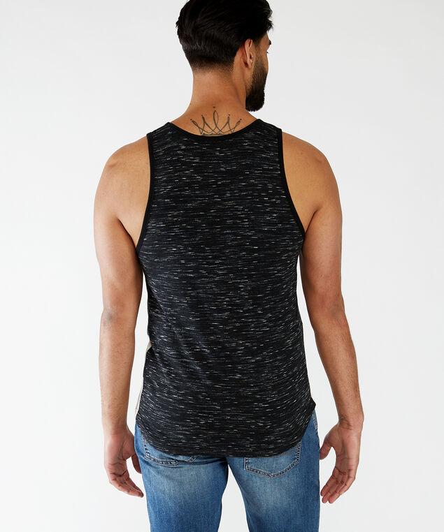 block design tank top, Black/Cream/Mint