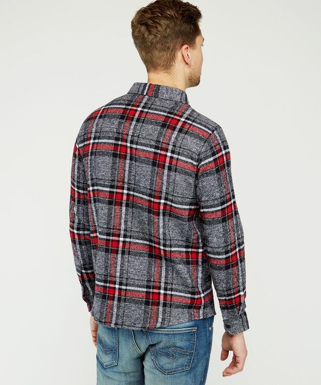 plaid shirt with moose, Red plaid, hi-res