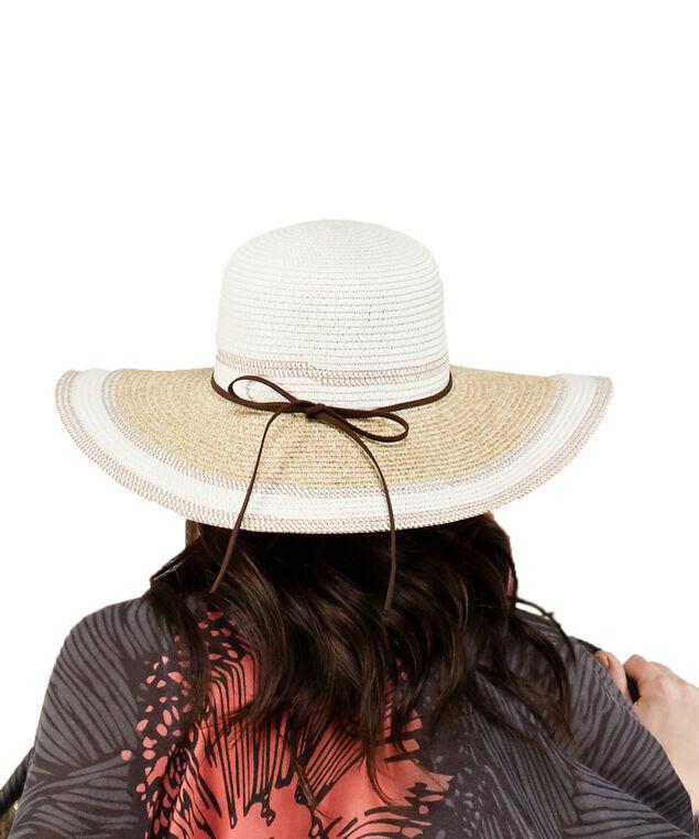 multi tone weave hat, Natural