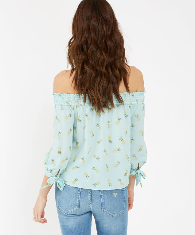 off the shoulder top - wb, PINEAPPLE, hi-res