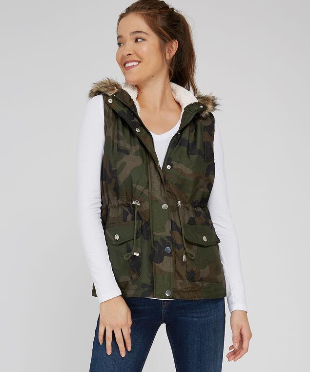 hooded vest, CAMO, hi-res