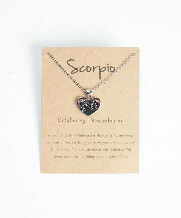 scorpio zodiac necklace, Silver