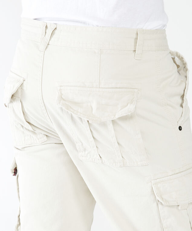 twill cargo pocket shorts, Off White