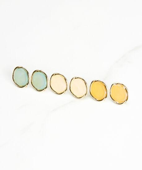 trio post earring set, Multi, hi-res