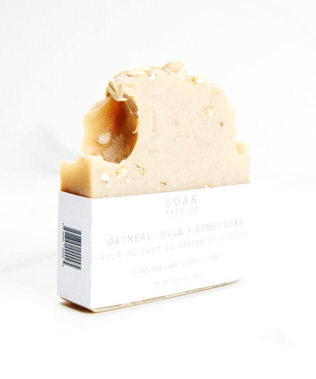 oatmeal milk & honey soap bar, Cream