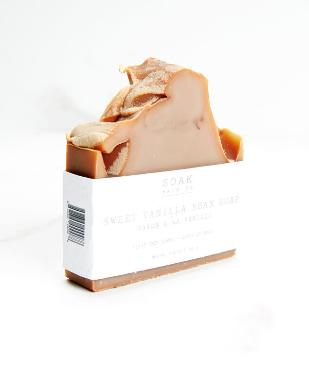 sweet vanilla bean soap bar, Brown