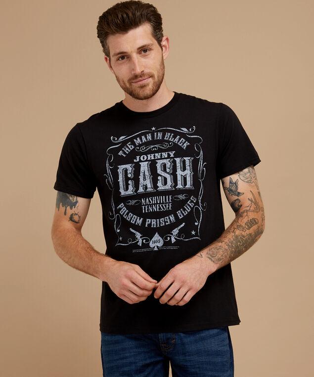 johnny cash graphic tee, BLACK, hi-res
