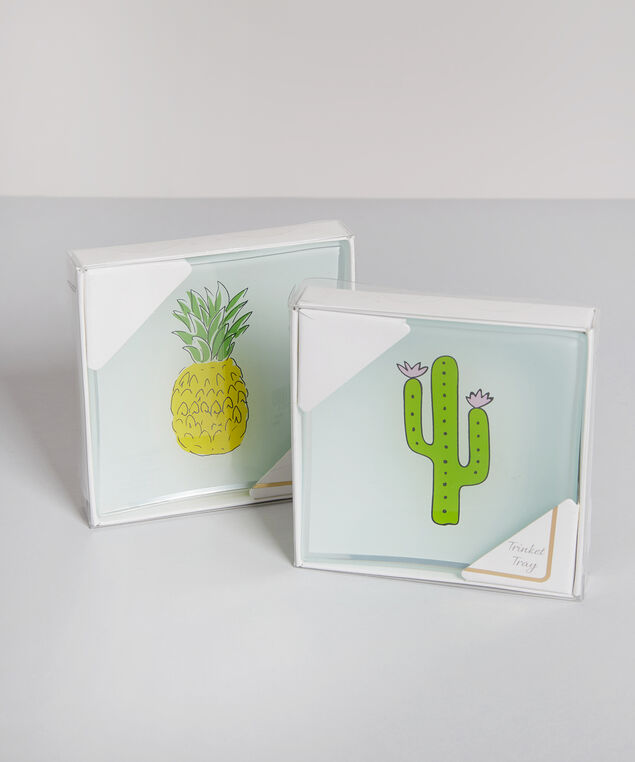 square cactus trinket tray - wb, CLEAR, hi-res