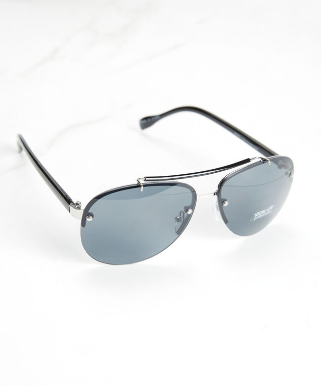 men's aviator sunglasses, Black Navy