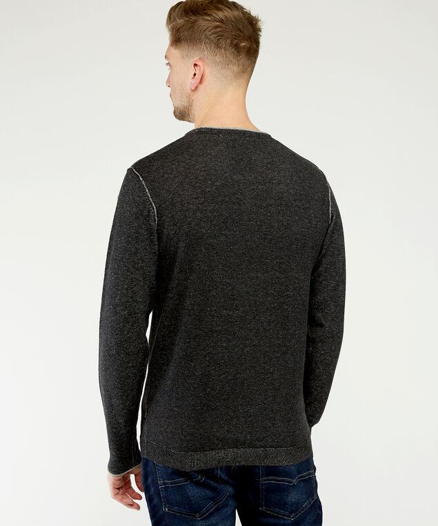 crew neck sweater, Charcoal