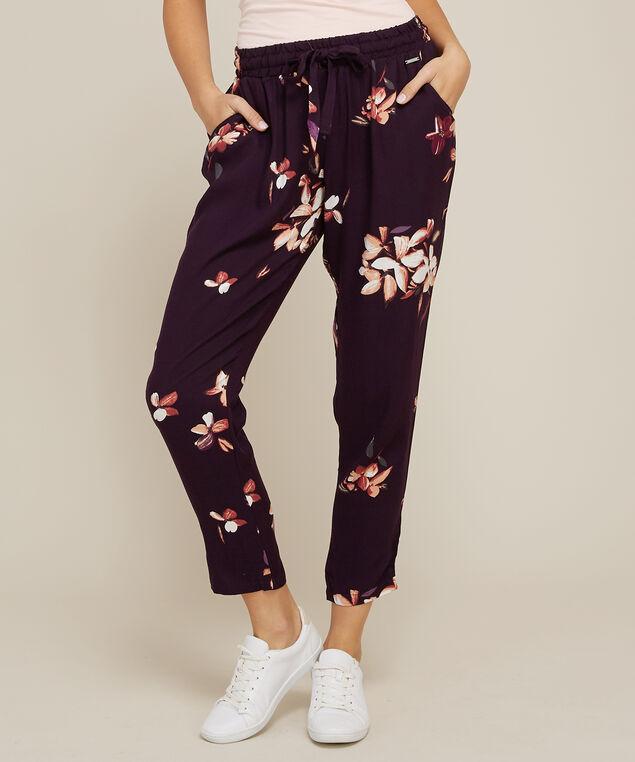 floral print soft pant - wb, , hi-res