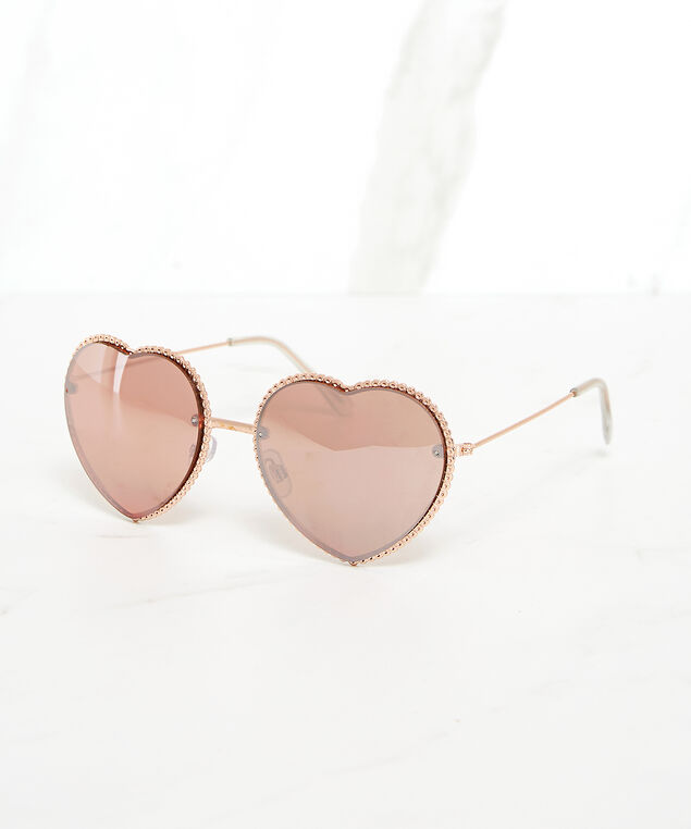 heart shape sunglasses, Rose, hi-res