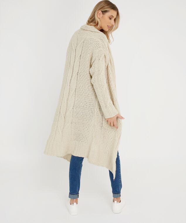 long multi stitch cardigan - wb, WHITE BEACH, hi-res